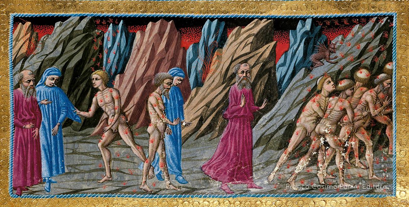 L'incontro tra Dante e Brunetto Latini